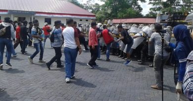 Ada Ali Mazi Saat Massa Bentrok Dengan Polisi, Dalam Simulasi Pengamanan Pilkada