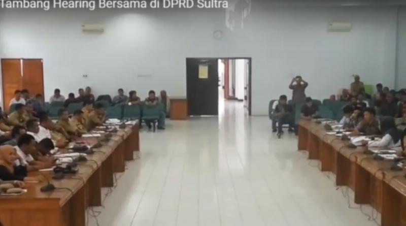 8 Perusahaan Tambang Hearing Bersama di DPRD Sultra