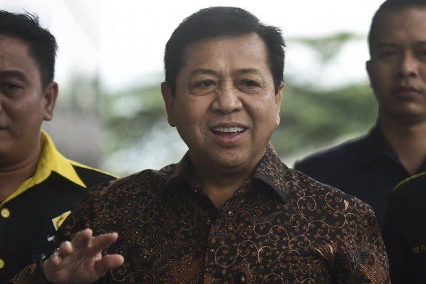 ketua DPR RI Setya Novanto di tetapkan sebagai tersangka dalam proyek R-KTP. FOTO : IINT