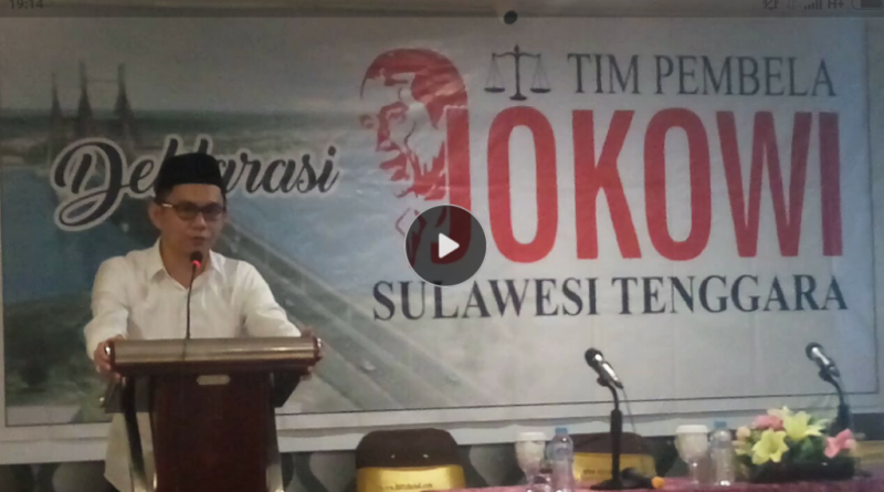 Tim Pembela Jokowi Deklarasi di Kendari, Tangkal Fitnah dan Hoax