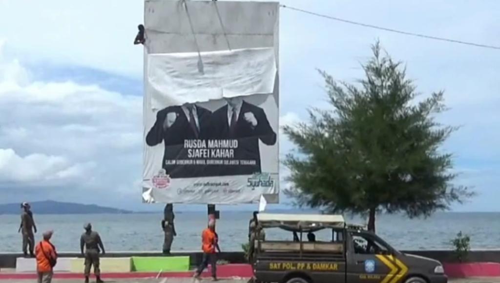 Pemasangan APK Paslon Gubernur Umumnya Melanggar