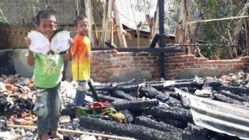 Kapolres Muna Peduli Terhadap Korban Kebakaran, Ini yang Dilakukan