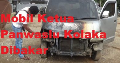 Mobil Ketua Panwaslu Kolaka Dibakar di Garasi Rumahnya