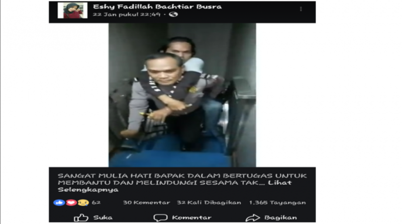 Lagi, Polisi Bantu Penyandang Disabilitas Viral di Sosmed