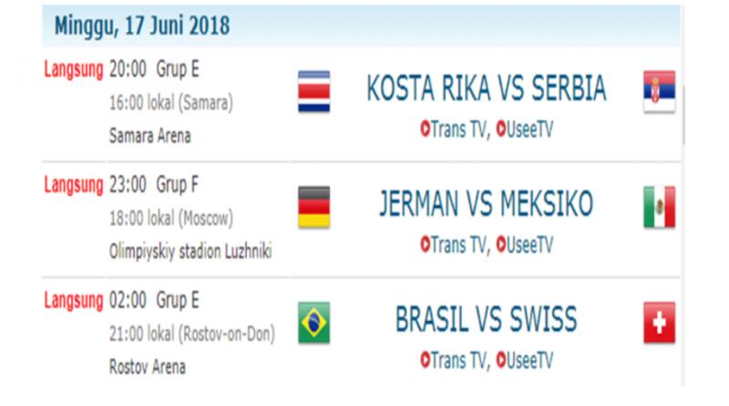 Ini Jadwal Pertandingan Piala Dunia Hari Ini dan Besok