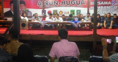 Horeee! Real Count Asrun - Hugua menang