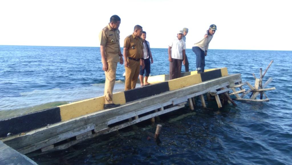 Habiskan Anggaran Miliaran Rupiah, Pelabuhan Rakyat Nipa-Nipa Ambruk