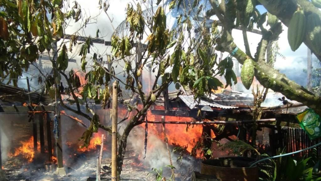 Satu Ton Kakao dan 100 Gram Emas Terbakar di Kolut