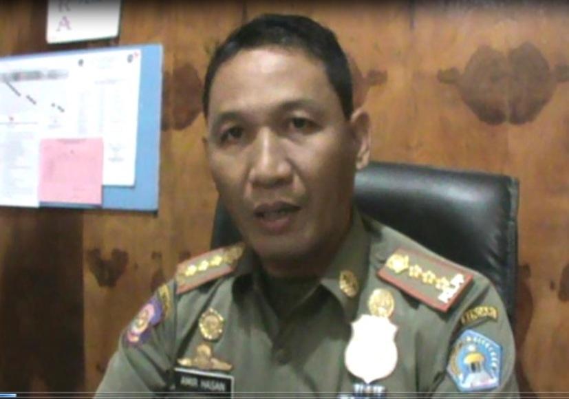 Kepala Satuan Pol PP Kota Kendari Amir Hasan S.TP,SH, M.SI. FOTO : FEBRI
