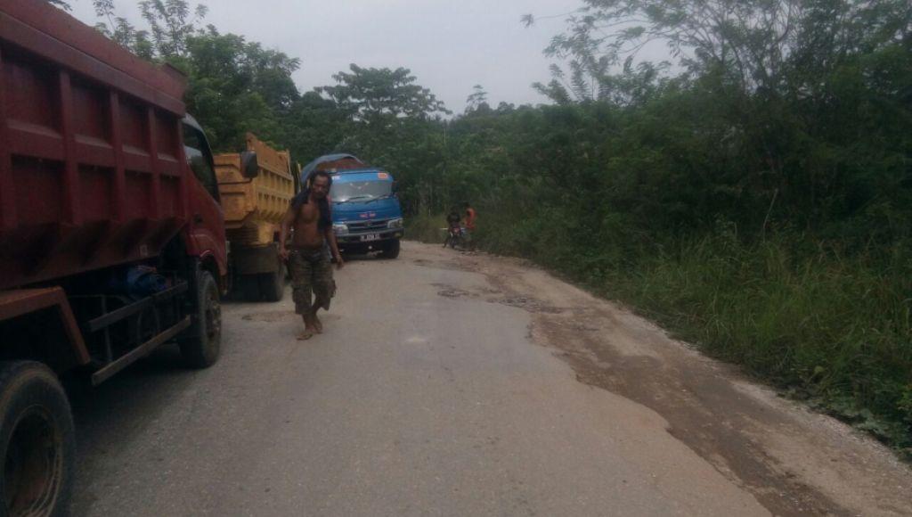 Truck Pengangkut Ore Nikel Mogok, Jalan Umum Alangga Terganggu