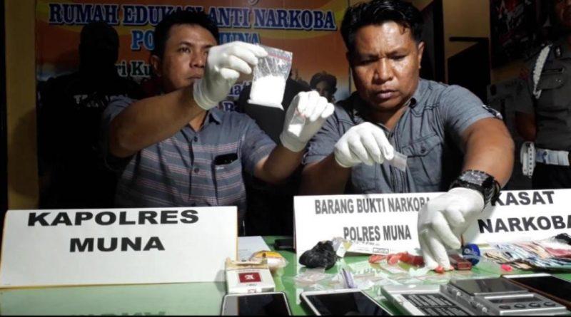 Pesan Narkoba dari Lapas Kendari, Polres Muna Tangkap Dua Pengedar