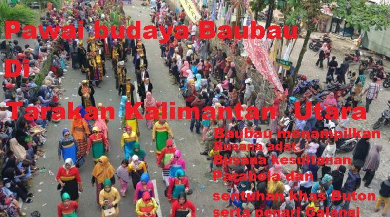 Pawai Budaya Baubau, Tampilkan Galangi dan Busana khas Buton di Kalimantan