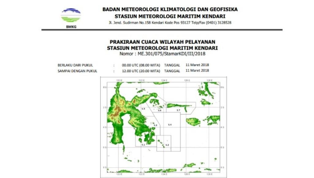 Ini Prakicu Esok Hari diWilayah Sulawesi Tenggara