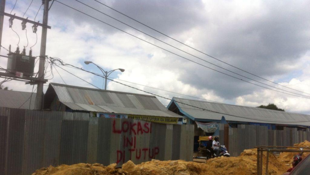 Pasar Panjang Kendari Dibongkar, Sat Pol PP Diusir Pedagang