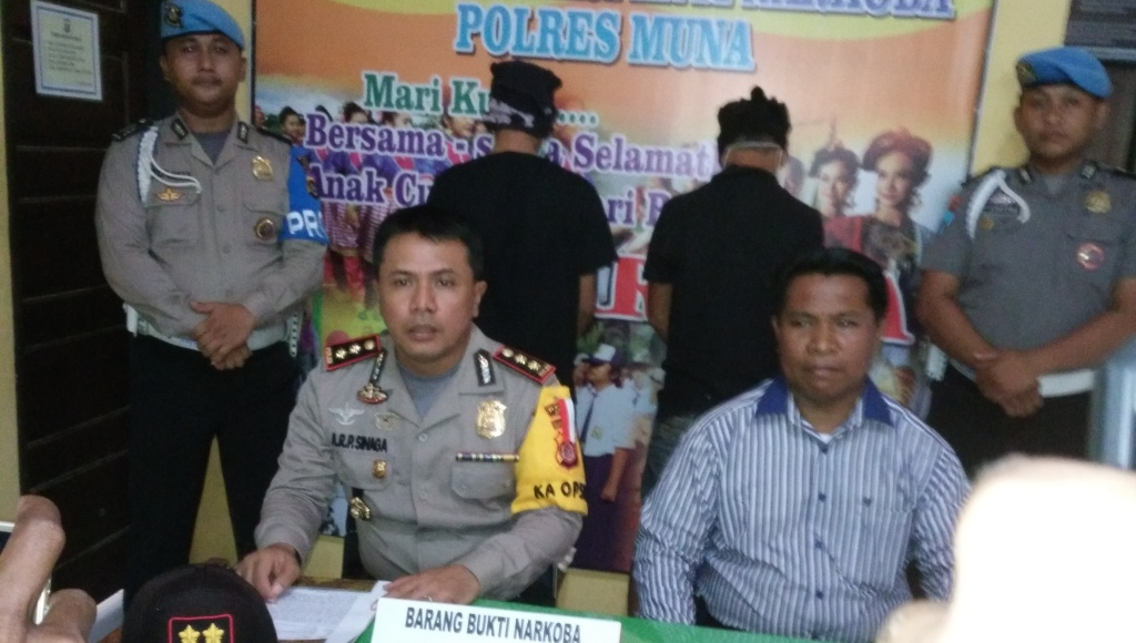 Polres Muna Tangkap 2 Orang Pengedar Sabu