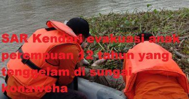 SAR Kendari Temukan Anak 12 Tahun yang Tenggelam di Sungai Konaweha