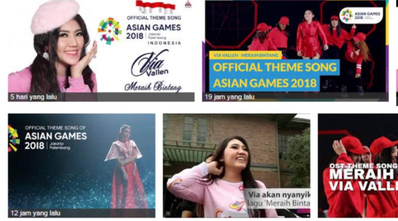 Viral, Via Vallen, Meraih Bintang Official Theme Song Asian Games 2018
