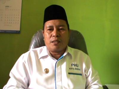 Kepala seksi urusan haji dan Umroh kementerian Departemen Agama Kota kendari. H. Sunardin FOTO : FT