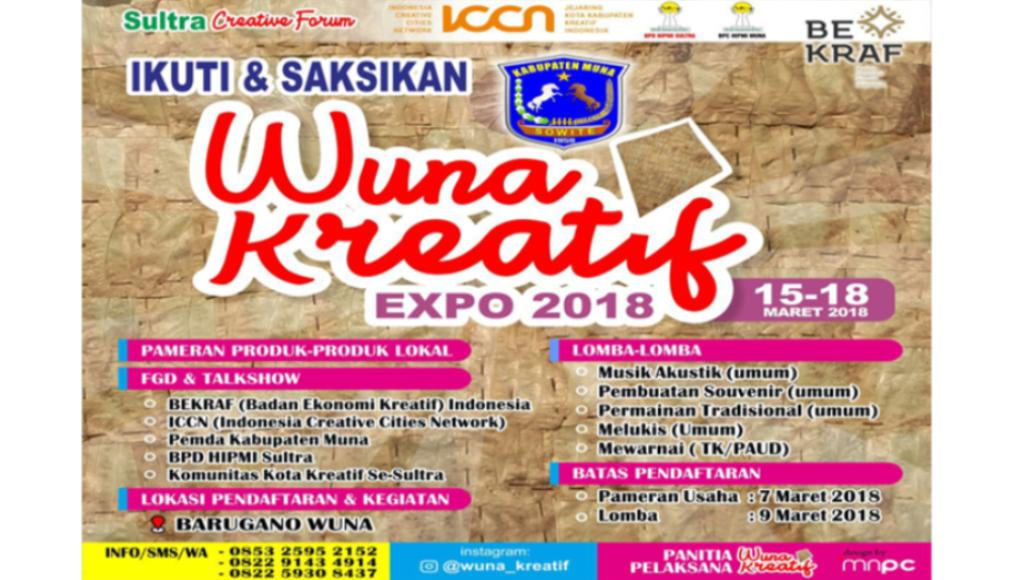 Deklarasi Wuna Kreatif Expo 2018